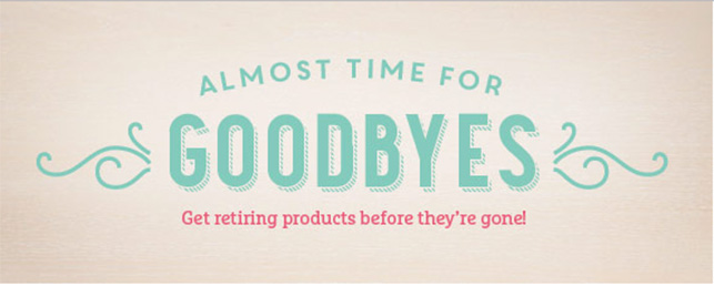 Retiring Stampin Up! Products